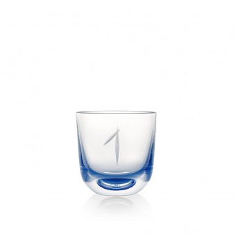Glass Number 1 200 ml Blue