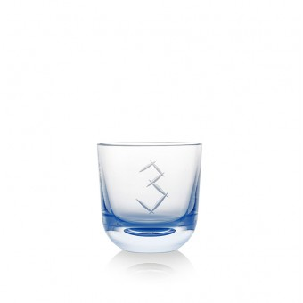 Glass Number 3 200 ml blue