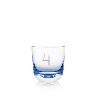 Glass Number 4 200 ml Blue