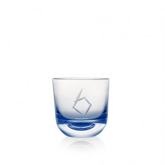 Glass Number 6 200 ml Blue