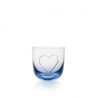 Sklenice Love I 200 ml blue