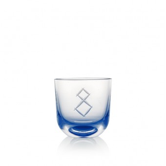 Glass Number 8 200 ml Blue