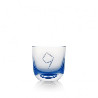 Glass Number 9 200 ml Blue