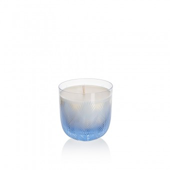 Feather Candle 9 cm blue