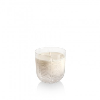 Feather Candle 9 cm crystal