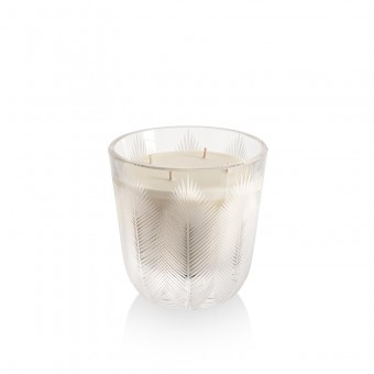 Feather Candle 16 cm crystal