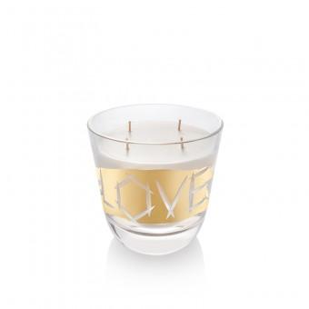 Svíčka Love zlato 16 cm