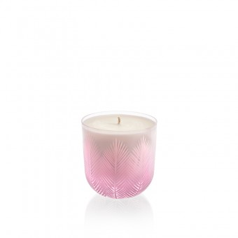 Feather Candle 9 cm pink