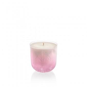 Svíčka Feather 9 cm pink