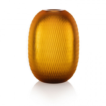 Metamorphosis Vase 20 cm Amber