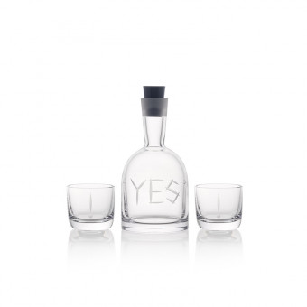 Carafe YES + 2 glasses