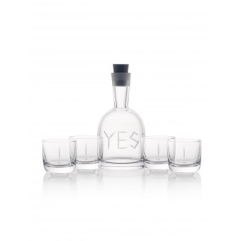 Carafe YES + 4 glasses