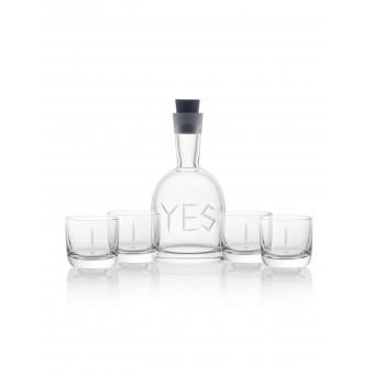 YES Karafa + 4 sklenice