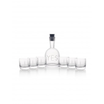 Carafe YES + 6 glasses