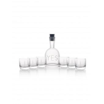 YES Karafa + 6 sklenic