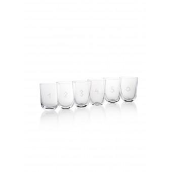 6 glasses H20