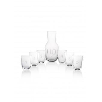 Carafe H20 + 6 glasses