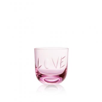 Sklenice Love II 200 ml pink