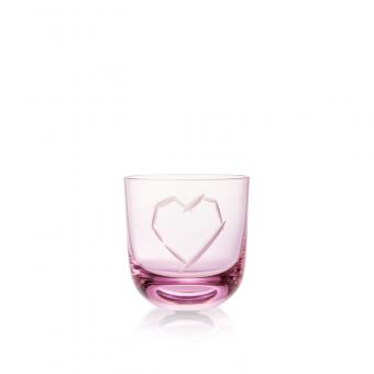 Sklenice Love I 200 ml pink