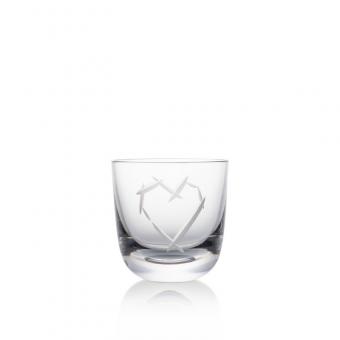 Sklenice Love I 200 ml crystal