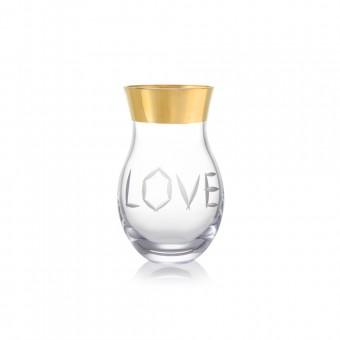 Váza Love zlato 27 cm