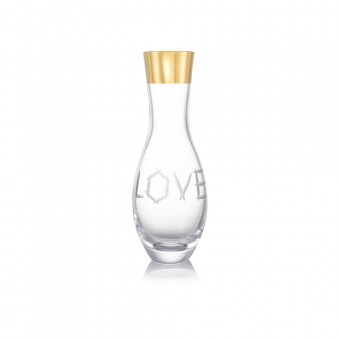 Váza Love zlato 34 cm