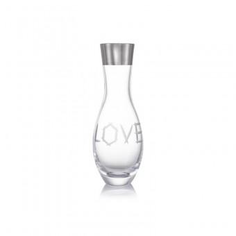 Váza Love platina 34 cm