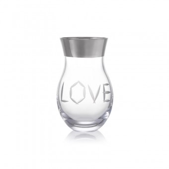 Váza Love platina 27 cm